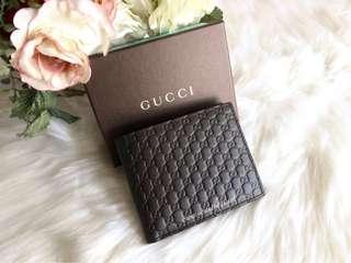 Gucci Microguccissima Bifold Wallet-Dark Brown