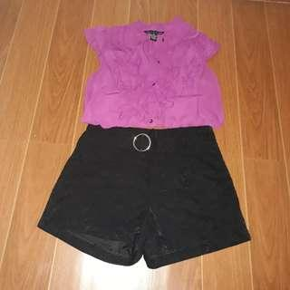 Violet Formal Sleeveless Crop Top