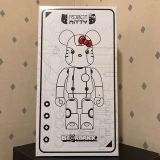 Bearbrick 400% Hello Kitty Robot 白色 吉蒂貓 機械人 Bear Be@rbrick Toy Figure Art Trendy Brand Design Rabbrick R@bbrick Nyabrick Ny@brick 模型 擺設 收藏品 名牌 潮流 玩具 禮物 生日禮物