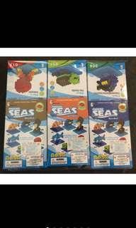 啾寶💋《現貨》一組六盒 小積木 海洋生物篇「特價 清倉價」