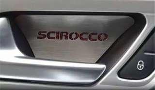 VW Scirocco inner door bowl sticker for 09-17 models