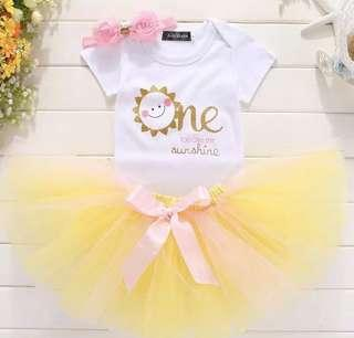 Instock Sunshine 🌞 Design 1st Birthday Party costume