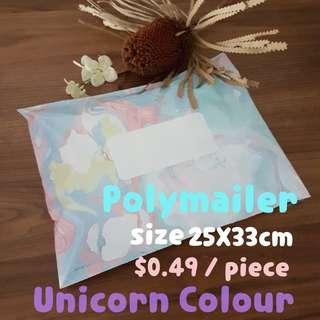 Polymailer Unicorn design
