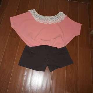 Pink Cute Crop Top