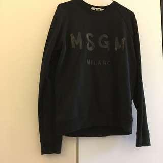 MSGM black hoodie 黑色衛衣