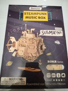 Steampunk music box - Submarine model