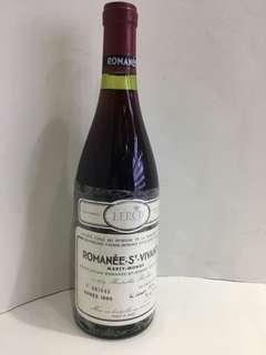 Romance St Vivant Domaine de La Romanee Conti 1985