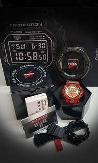 CASIO G SHOCK GA-710GB-1ADR Super Mint Condition ,Custom Mod negative Red display LCD and Red jelly bnb.Authentic Original  intact with the deal.