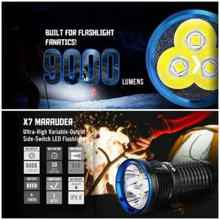 (9,000 Lumens_Free Delivery) Olight X7 Marauder Compact SearchlightFlashlight