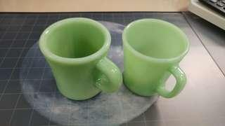 Fire King Anchor Hocking Jadeite Vintage, 1pc D-handle mugs, Made in USA