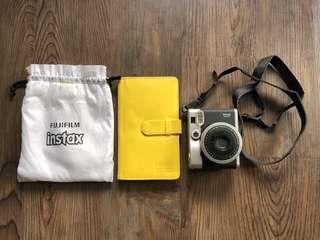 Fuji film instax mini 90 classic neo (free white protective bag and album)