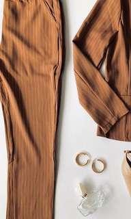 Pinstriped suit set