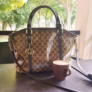 Gucci Coated Canvas Handbag