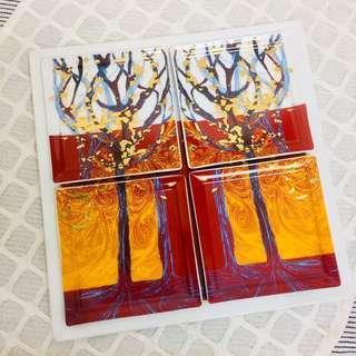 🚚 🇫🇷 法國✨ LEGLE 麗固✨頂級細瓷24K金箔盤組 💎 金森林系列 🌳 4小盤+1大盤🎁五件組合🎁