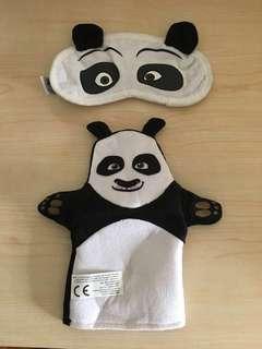 Cute Panda Eye Patch & Hand Puppet