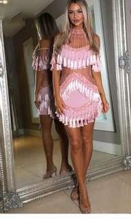 Pink Tassel Dress 8'