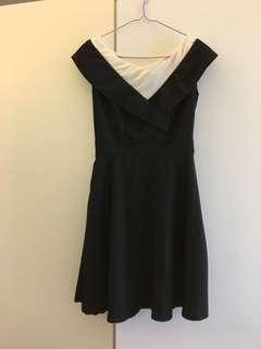 Black x white dress 黑白連身裙
