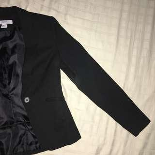 H&M Black Office Coat