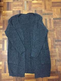 Grey Knitted Cardigan (included pos)