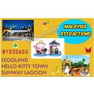 Malaysia Attractions - Legoland / Hello Kitty / Sunway Lagoon - Tickets