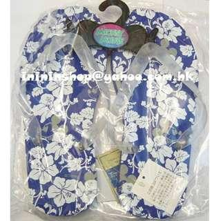 送順豐櫃 購自日本限量款 米奇美妮 Mickey Mouse 藍沙灘拖鞋 Disney 人字閃邊 Size:25cm