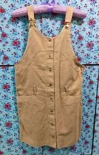 Khaki Jumper Skirt