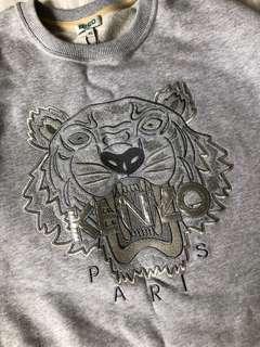 de4873ffb Kenzo silver tiger sweatshirt jumper grey xs women