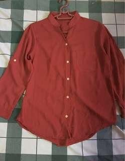 Long Sleeve Blouse (Red)