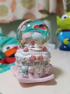 (可酌量議價)Sanrio Little Twin Stars 水晶球 Snow Globe