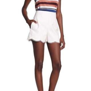 Club Monaco Harpose Scallop Faux-Leather Shorts