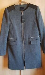 MIXXO灰色羊毛大衣外套