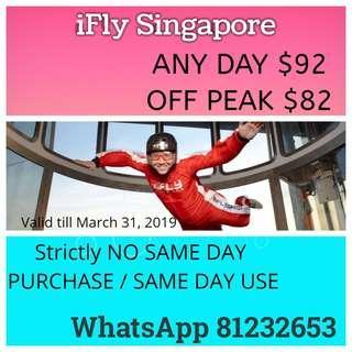 iFly Singapore - Anyday/Off peak