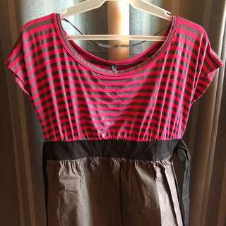 Pink Stripes Short Dress