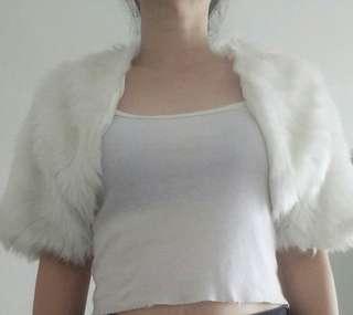 Elegant White Flurry Outerwear