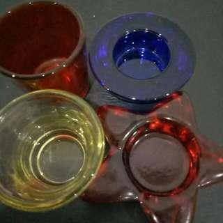 Sweet Thick Colour Candle Glass