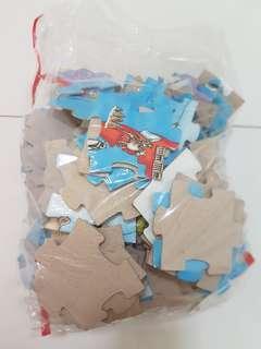 Children world map puzzle