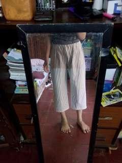 Kulot cullote culotte putih garis strip stripes