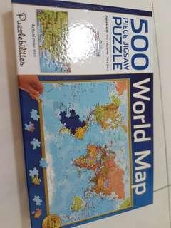 500 pieces world map puzzle