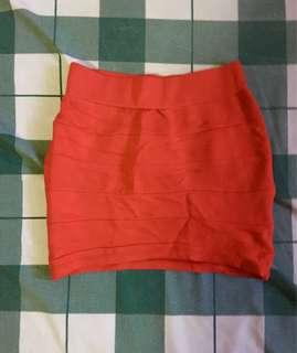 Oxygen Pencil Skirt (Red)