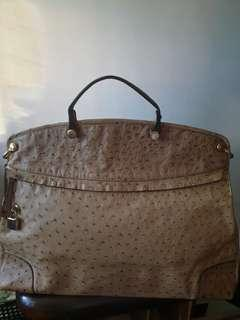 Authentic Furla Ostrich Piper Large