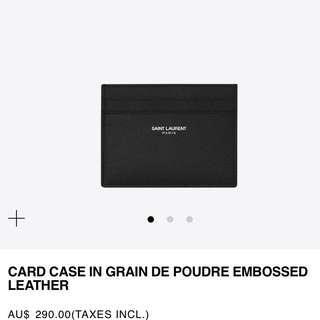 YSL / Saint Laurent Paris Card holder brand new in box