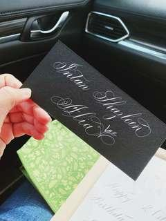 Calligraphy service for name cards/guests name