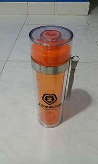 BNIB Zookal Double Tube Water Bottle (keeps the temperature)
