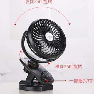 🚚 Stroller Fan  / Clip on fan / Pram Fan - WIth double battery and automatic turn