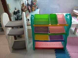 Used. Korea Toys toy children kids storage organizer cabinet