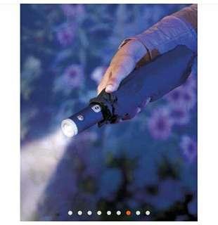 Automatic Umbrella with flashlight handle