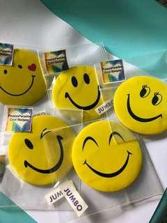 5 Jumbo Emoji Button Badges
