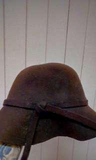 Boho wool brown hat