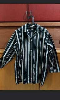 Stripe oversized blouse