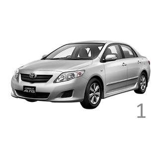 $230 Weekend Car Rental Toyota Altis